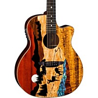 Luna Guitars Vista Deer Tropical Wood Acoustic-Electric Guitar Natural