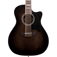 D'angelico Excel Fulton 12 String Acoustic Electric Guitar Grey Black