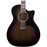 D'angelico Premier Gramercy Acoustic-Electric Guitar Grey Black