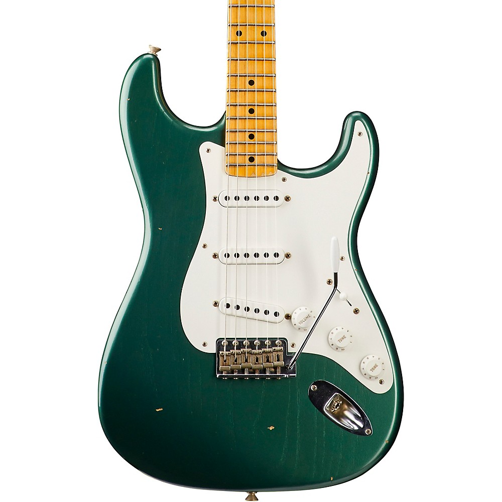 Fender Custom Shop 1955 Journeyman Relic Stratocaster - Custom Built - Namm Limited Edition Faded Aged Sherwood Green