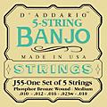 D'Addario J55 Phosphor Bronze Medium Banjo Strings thumbnail
