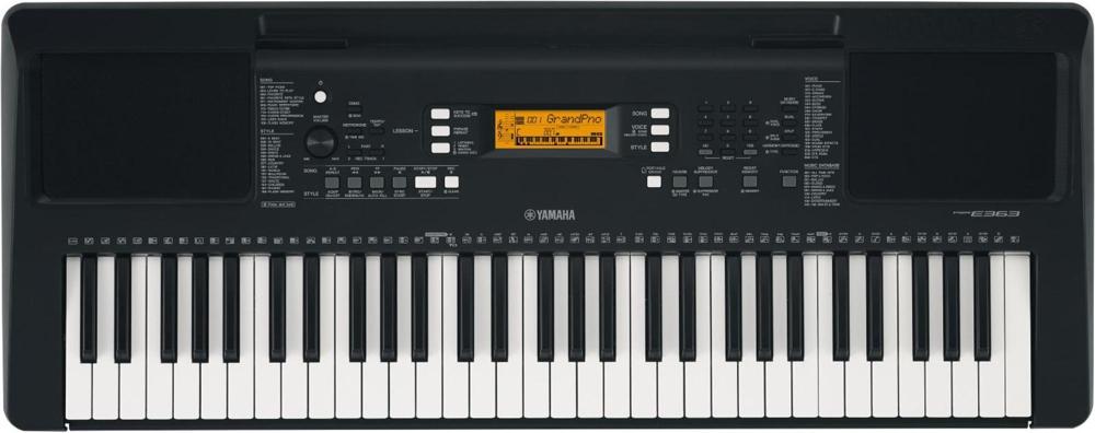 yamaha psr e363 61 key portable keyboard black. Black Bedroom Furniture Sets. Home Design Ideas
