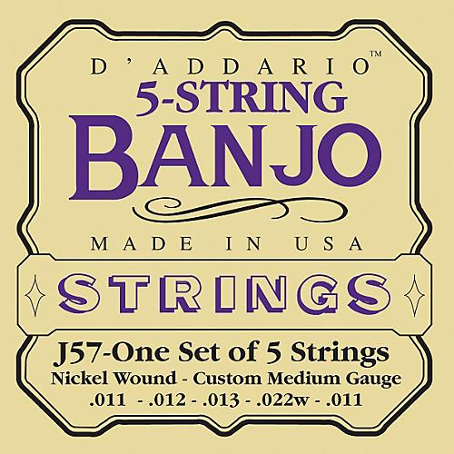D'Addario J57 5-String Banjo Strings