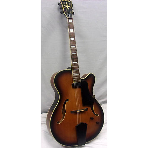 Washburn J600 Jazz Venetian Hollow Body Electric Guitar Vintage Sunburst
