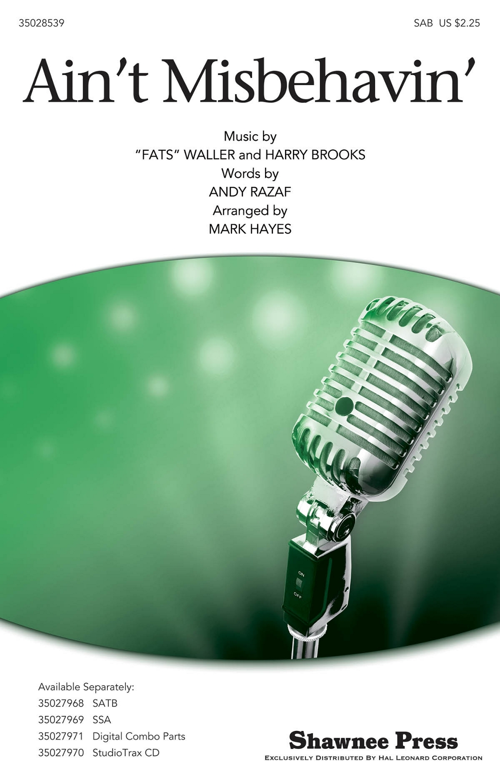 "Ain't Misbehavin' SAB by Thomas ""Fats"" Waller arranged by ... Fats Waller Grammy Awards"