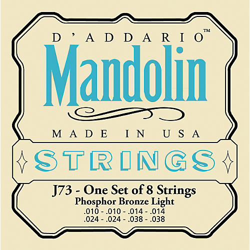 D'Addario J73 Phosphor Bronze Light Mandolin Strings
