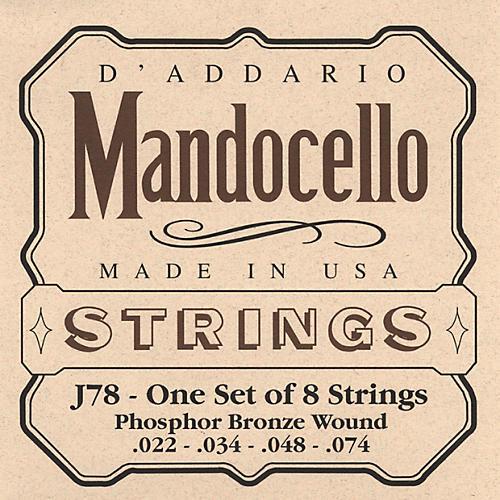 D'Addario J78 Phosphor Bronze Wound Mandocello String Set
