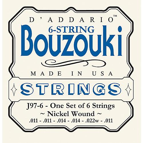 D'Addario J97-6 6-String Nickel Wound Greek Bouzouki Strings