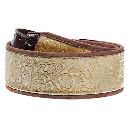 Right On JAZZ Fiore Gold Guitar Strap