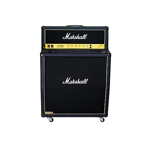marshall jcm800 2203 vintage series 100w guitar tube head with 1960a 300w 4x12 cabinet angled. Black Bedroom Furniture Sets. Home Design Ideas