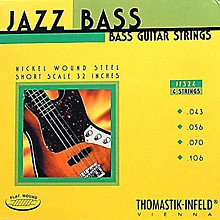 Thomastik JF324 Flatwound Short Scale 4-String Jazz Bass Strings