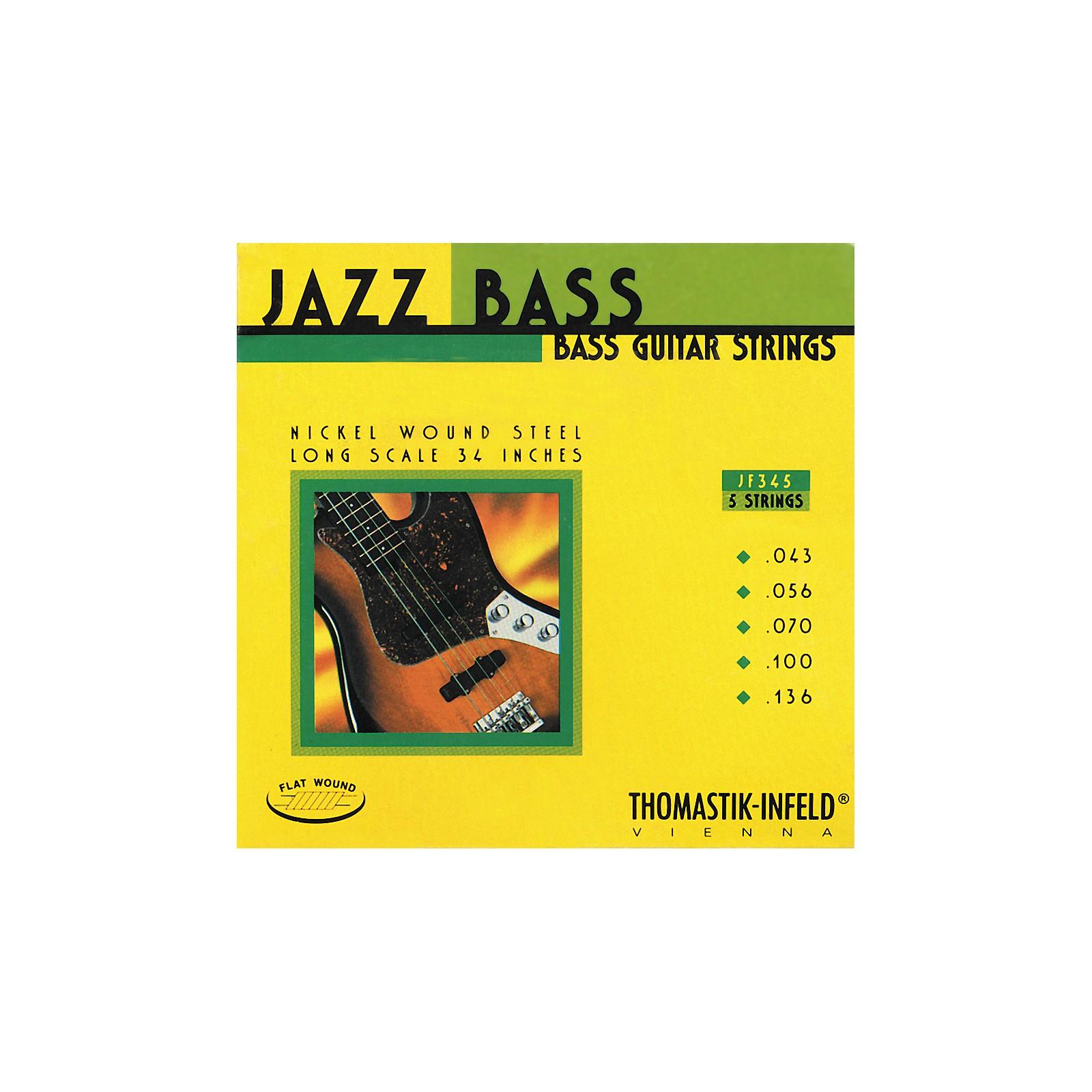 Thomastik JF345 Flatwound 5-String Jazz Bass Strings