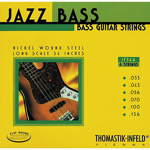 Thomastik JF346 Flatwound Scale 6-String Jazz Bass Strings