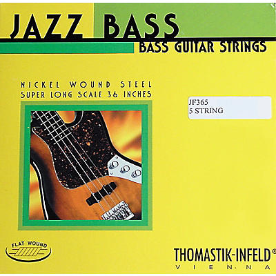 Thomastik JF365 Jazz Flatwound Long Scale 5-String Bass Strings