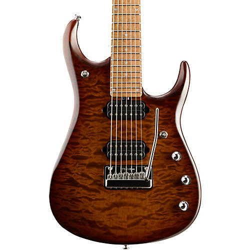 Ernie Ball Music Man JP15 Roasted Quilt Maple Top 7-String Electric Guitar Sahara Burst