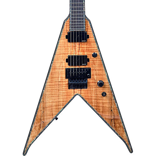 B.C. Rich JR-V Extreme Exotic with Floyd Rose Electric Guitar Spalted Maple
