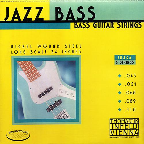 Thomastik JR345 Roundwound Scale 5-String Jazz Bass Strings
