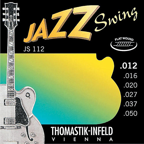 Thomastik Js112 Medium Light Flatwound Jazz Swing Electric Guitar