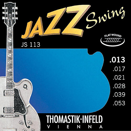 thomastik js113 medium flatwound jazz swing electric guitar strings musician 39 s friend. Black Bedroom Furniture Sets. Home Design Ideas