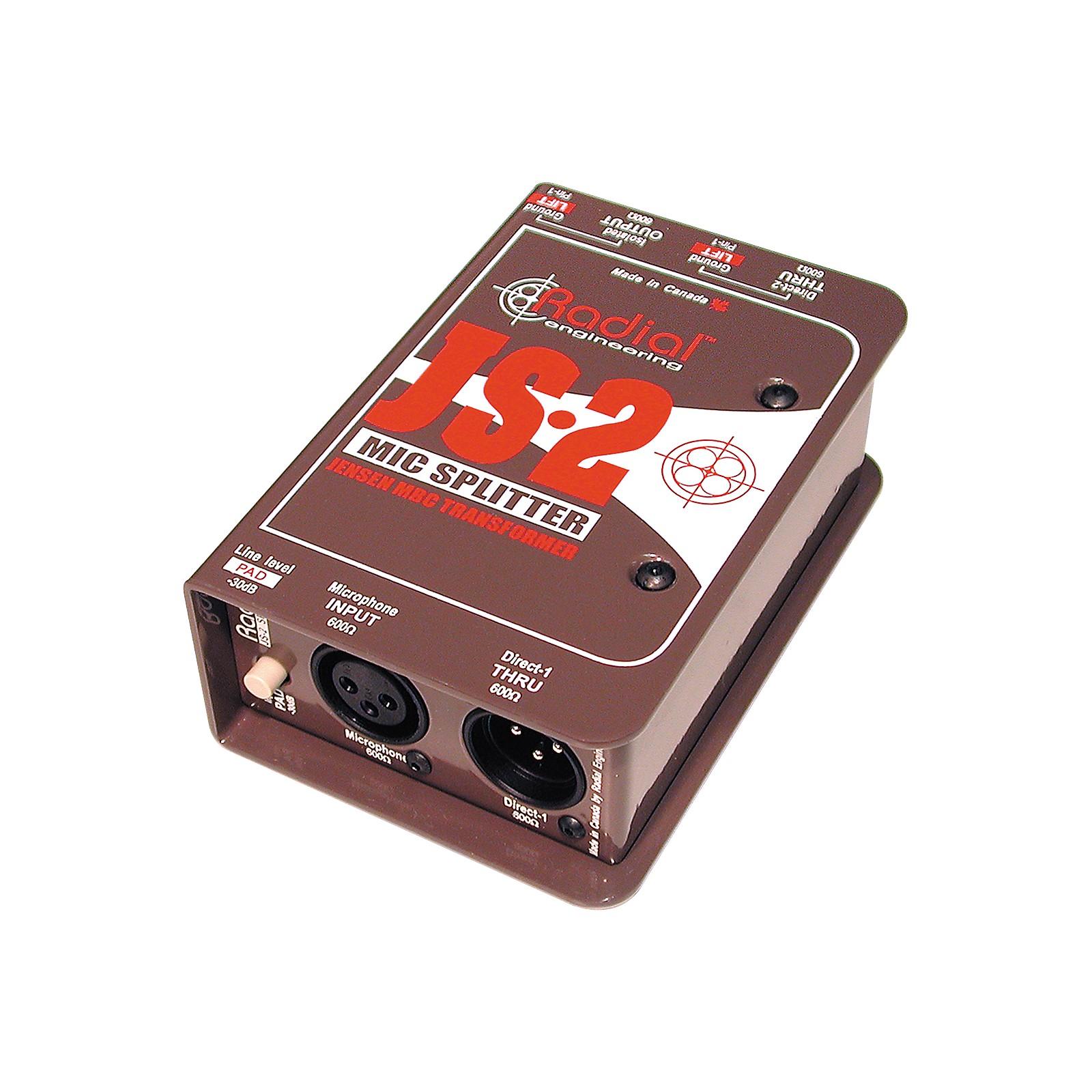 Radial Engineering JS2 Passive Microphone Splitter Direct Box