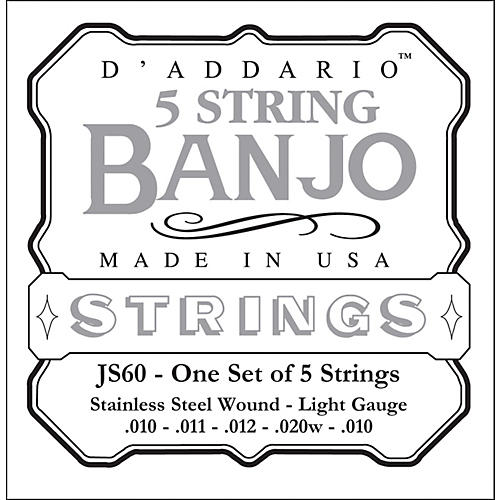 D'Addario JS60 Stainless Steel Light Banjo Strings