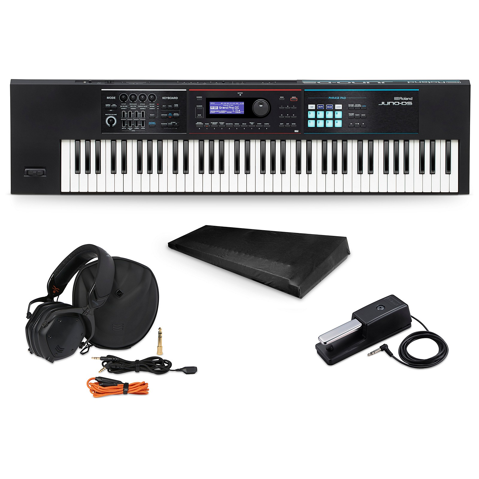 Roland JUNO-DS76 Synthesizer Essentials Package