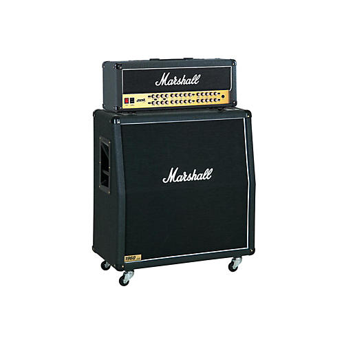 Marshall JVM Series JVM410H 100W Guitar Tube Head with 1960A 300W 4x12 Cab Angled