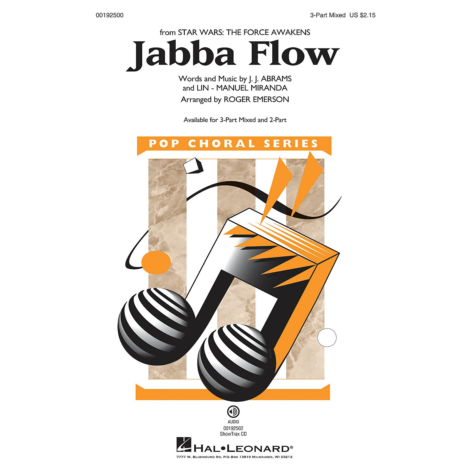 Hal Leonard Jabba Flow (from Star Wars: The Force Awakens) 2-Part Arranged by Roger Emerson