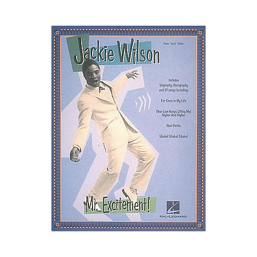 Hal Leonard Jackie Wilson - Mr. Excitement! Piano, Vocal, Guitar Songbook