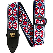 Jacquard Guitar Strap Taos Fire Red