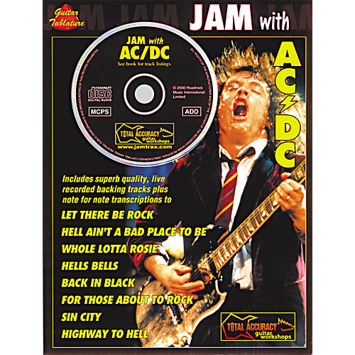 Music Sales Jam with AC/DC Guitar Tab Songbook with CD