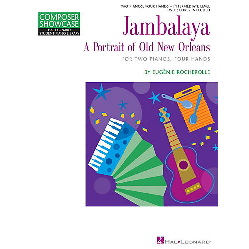 Hal Leonard Jambalaya Piano Library Series Book by Eugénie Rocherolle (Level Inter)