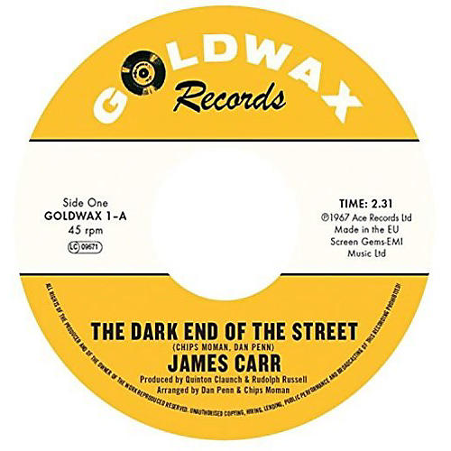Alliance James Carr - Dark End Of The Street / You've Got My Mind Messed Up