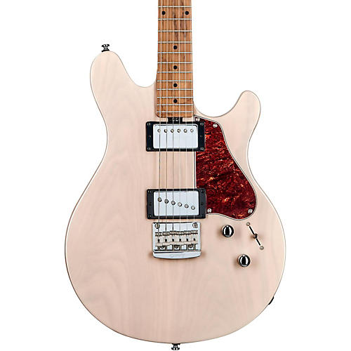 Sterling by Music Man James Valentine Signature Series 6 String Electric Guitar Transparent Buttermilk
