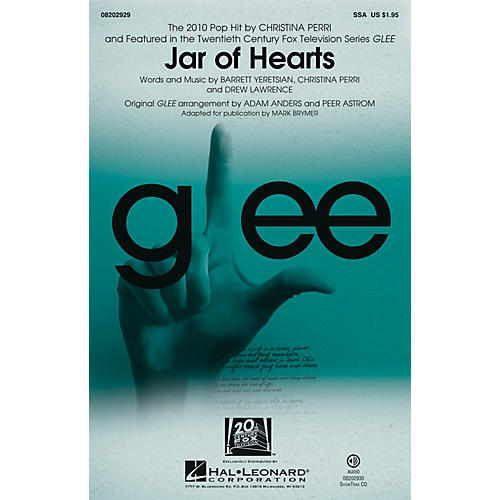 Hal Leonard Jar of Hearts SSA by Christina Perri arranged by Mark Brymer
