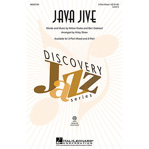 Hal Leonard Java Jive (Discovery Level 3) 2-Part Arranged by Kirby Shaw