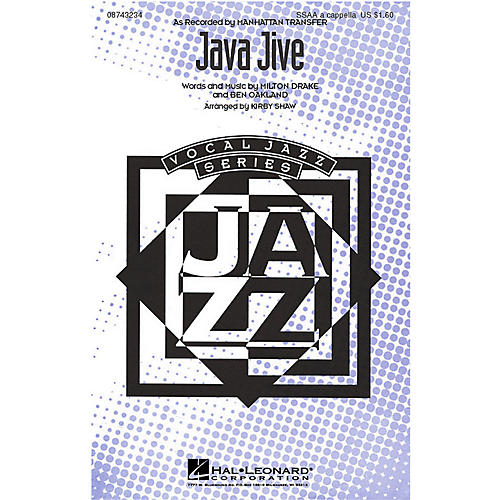 Hal Leonard Java Jive SSAA A Cappella by The Manhattan Transfer arranged by Kirby Shaw