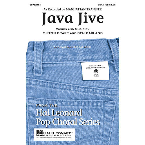 Hal Leonard Java Jive SSAA by Manhattan Transfer arranged by Ed Lojeski