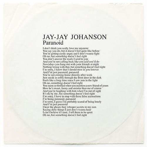 Alliance Jay-Jay Johanson - Paranoid