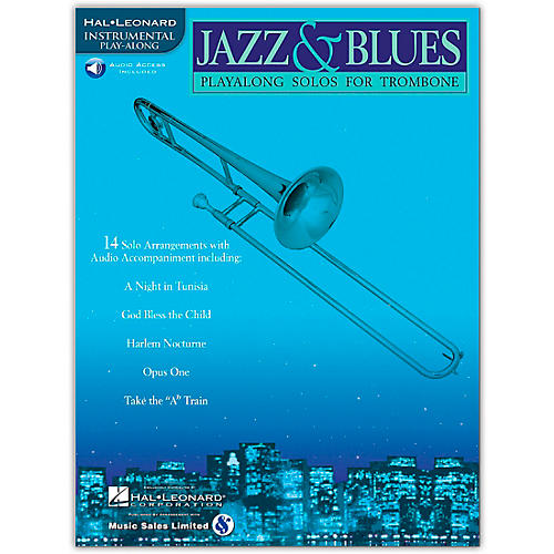 Hal Leonard Jazz And Blues Playalong Solos for Trombone (Book/Online Audio)