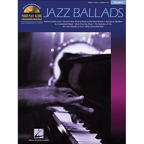 Hal Leonard Jazz Ballads Piano Play-Along Volume 2 Book/CD arranged for piano, vocal, and guitar (P/V/G)