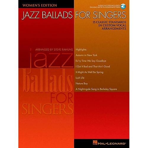 Hal Leonard Jazz Ballads for Singers - Women's Edition Book/CD