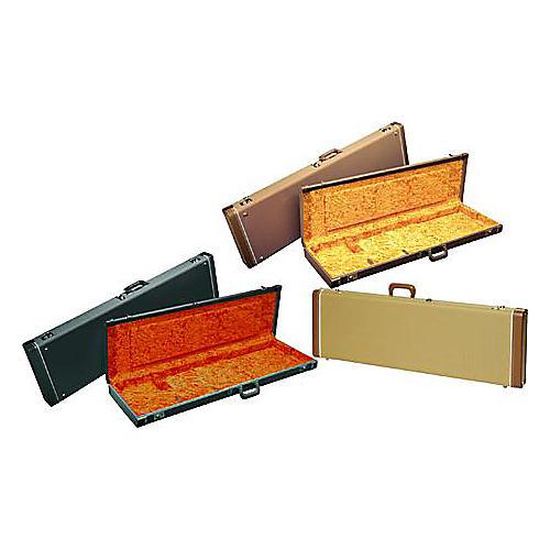Fender Jazz Bass Hardshell Case Black Orange Plush Interior