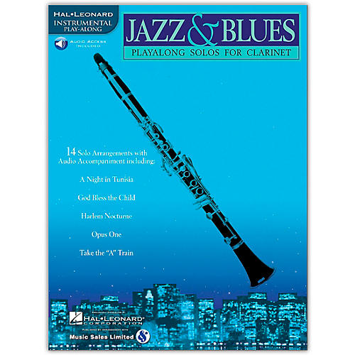 Hal Leonard Jazz & Blues Playalong Solos for Clarinet (Book/Online Audio)