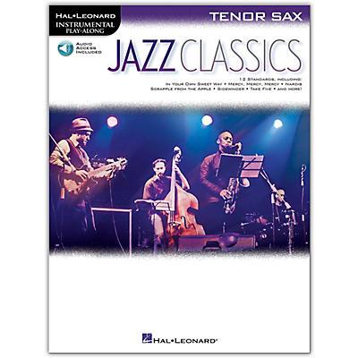 Hal Leonard Jazz Classics For Tenor Sax Instrumental Play-Along Book/Audio Online