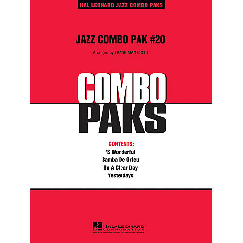 Hal Leonard Jazz Combo Pak #20 (with audio download) Jazz Band Level 3 Arranged by Frank Mantooth