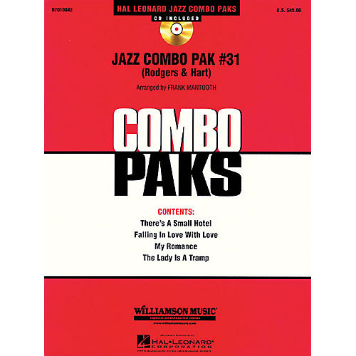 Hal Leonard Jazz Combo Pak #31 (Rodgers & Hart) (with audio download) Jazz Band Level 3 Arranged by Frank Mantooth