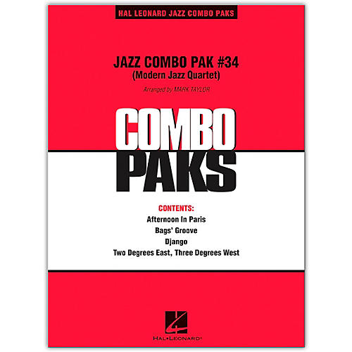 Hal Leonard Jazz Combo Pak #34 (Modern Jazz Quartet) Level 3 Book/Online Audio