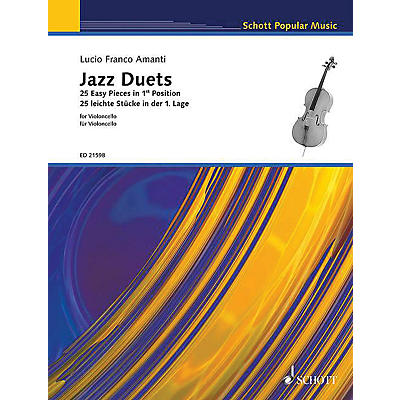 Schott Jazz Duets for Cello (25 Easy Pieces in First Position) String Series Softcover