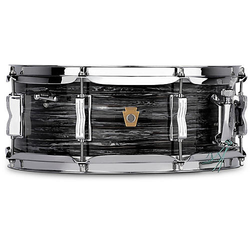 Ludwig Jazz Fest Snare Drum 14 x 5.5 in. Vintage Black Oyster Pearl